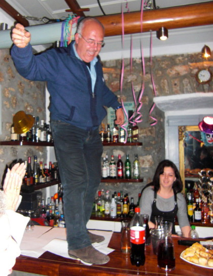 Table Dancing at Mourayo Bar Spetses Greece