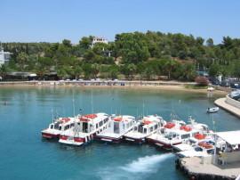 Water taxi, Kosta Sea Port, Spetses Island Greece