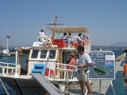 Caique Boats or Kaiki's on Spetses Island Greece
