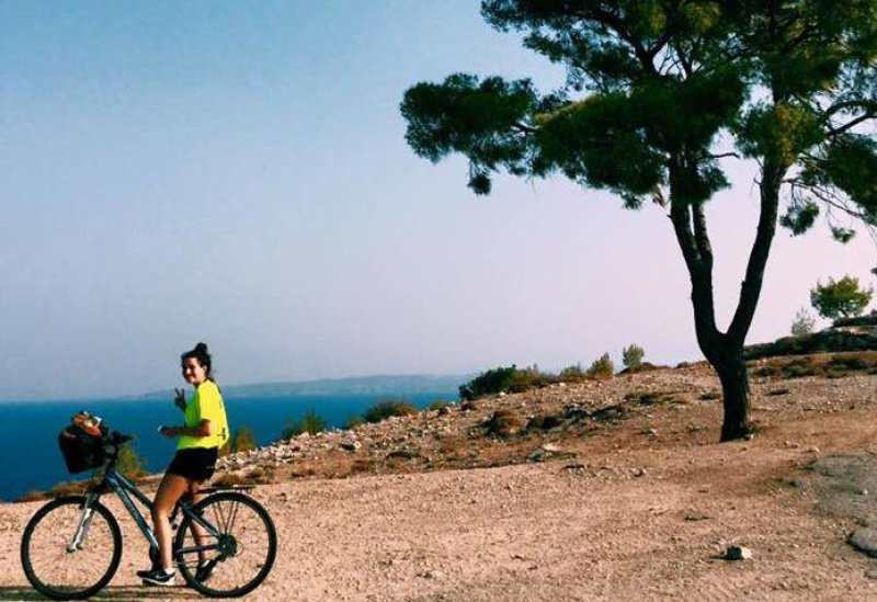 Cycling on Spetses