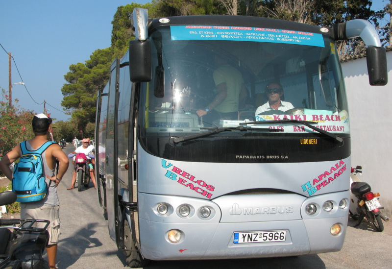 Buses on Spetses Island