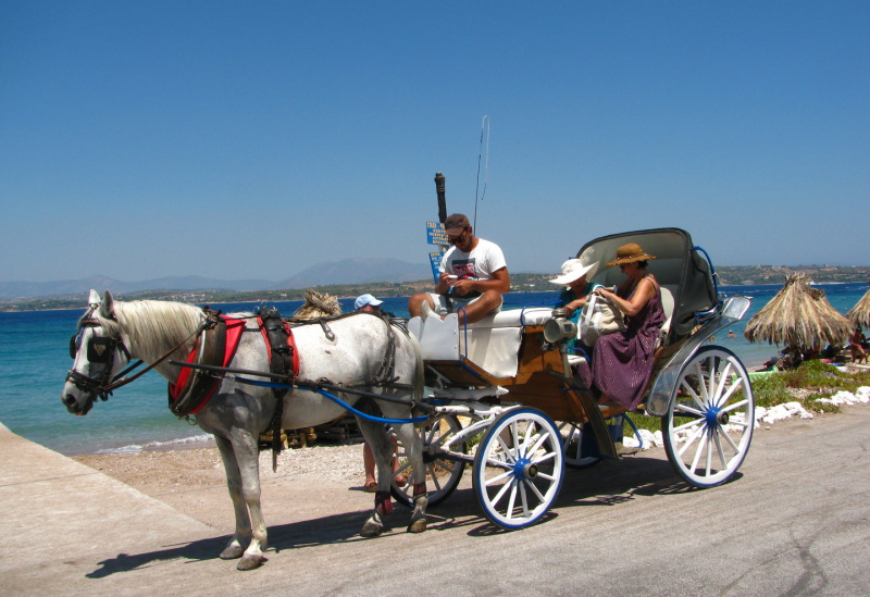 Horse Buggies on Spetses Island